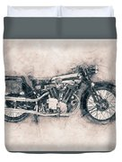 Brough Superior Ss100 - 1924 - Motorcycle Poster - Automotive Art Duvet Cover
