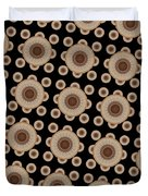 Brown And Black Mandala Pattren Duvet Cover