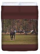 Brown And White Horse Duvet Cover