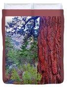 Brown Bark Duvet Cover
