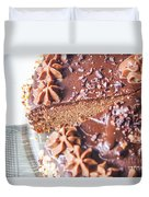 Brown Chocolate Cake Duvet Cover