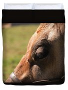 Brown Cow With Vignette Duvet Cover