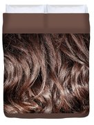 Brown Curly Hair Background Duvet Cover