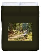 Brown Dirty Road Under Spring Sun Rays Duvet Cover