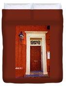 Brown Door Duvet Cover
