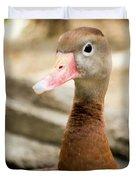 Brown Duck Portrait Duvet Cover