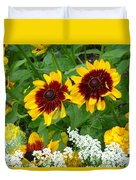Brown Eyed Susans Duvet Cover