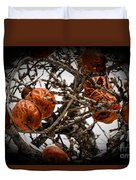 Brown Fruit Abstract Duvet Cover