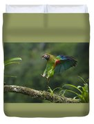 Brown-hooded Parrot Duvet Cover