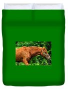 Brown Horse In High Definition Duvet Cover