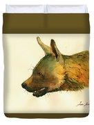 Brown Hyena Duvet Cover