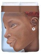 Brown Introspection Duvet Cover by Kaaria Mucherera