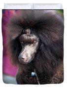 Brown Medium Poodle Duvet Cover