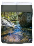Brown Mountain Forest Duvet Cover