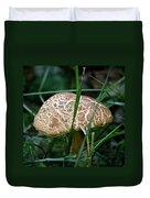 Brown Mushroom Squared Duvet Cover