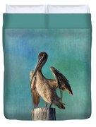 Brown Pelican - Fort Myers Beach Duvet Cover