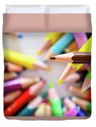 Brown Pencil Duvet Cover