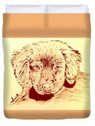 Brown Puppy Duvet Cover