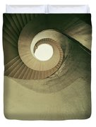 Brown Spiral Stairs Duvet Cover