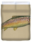 Brown Trout Jumping Duvet Cover