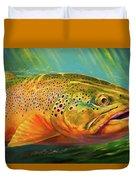 Brown Trout Portrait  Duvet Cover
