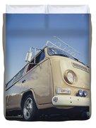 Brown Vw T2 Camper Van Duvet Cover