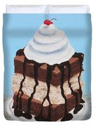 Brownie Ice Cream Sandwich Duvet Cover