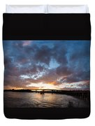 Brown's Island Pano Duvet Cover