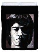 Bruce Lee Portrait Duvet Cover