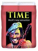 Bruce Springsteen Time Magazine Cover 1980s Duvet Cover