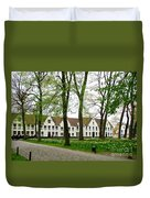 Bruges Begijnhof 2 Duvet Cover