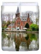 Bruges Kasteel Minnewater Duvet Cover