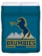 Brumbies Rugby Duvet Cover