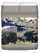 Brush And Rocks Duvet Cover