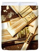 Brushes Of Interior Decoration Duvet Cover