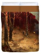 Brushwood Collector Bordering The Woods Duvet Cover