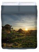 Brushy Peak Sunset Duvet Cover