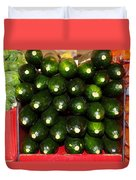 Brussel Sprouts , Cucumbers And Carrots Duvet Cover