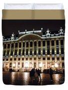 Brussels Lights At Plaza Duvet Cover