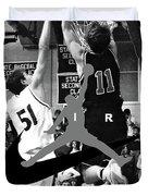 Bryan Nelson Goes Michael Air Jordan, A Shawnee Mission East High School Legend Duvet Cover