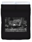 Bryant Park In Black And White Duvet Cover
