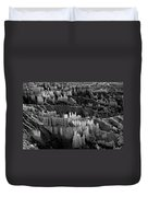 Bryce Canyon In Black And White Duvet Cover