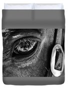 Bryce Canyon National Park Horse Bw Duvet Cover