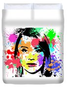Bryce Dallas Howard Pop Art Duvet Cover