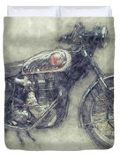 Bsa Gold Star 1 - 1938 - Motorcycle Poster - Automotive Art Duvet Cover