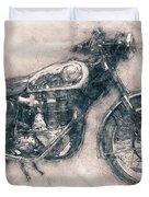 Bsa Gold Star - 1938 - Motorcycle Poster - Automotive Art Duvet Cover