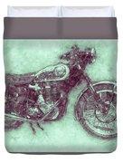 Bsa Gold Star 3 - 1938 - Motorcycle Poster - Automotive Art Duvet Cover