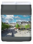 Georges Pompidou Square Duvet Cover