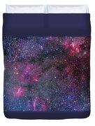 Bubble Nebula And Cave Nebula Mosaic Duvet Cover