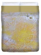 3. Bubble Yellow And White Glaze Painting Duvet Cover